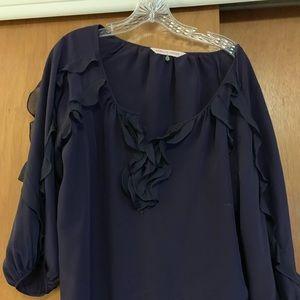 Rebecca Taylor flowy purple shirt